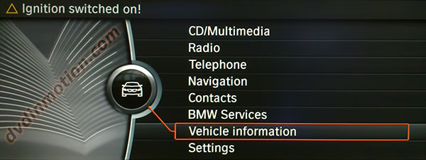 BMW CIC Main Menu